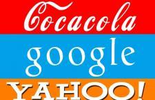 迪士尼、谷歌、雅虎、可口可乐字体