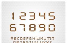 实用时钟,液晶英文字体
