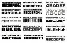 300个英文像素字体