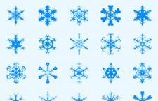 20种不同形状雪花笔刷