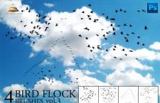 实用小鸟群天空飞翔笔刷