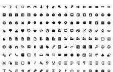 244枚多尺寸,黑白两套简约风格PNG图标