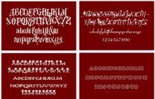 35款适用于情人节题材设计的英文字体