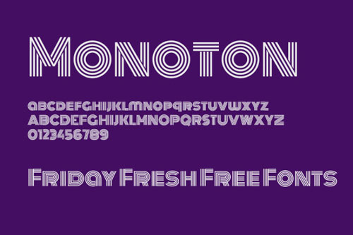 Monoton 线条英文字体