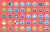 社交网络媒体PNG图标