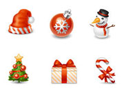 圣诞节立体图标,多尺寸,PNG格式