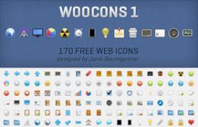 170枚网站设计常用PNG图标
