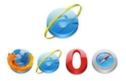 4款常用浏览器PNG图标