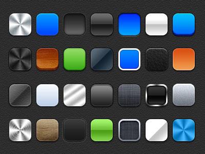 28款纹理质感风格的图层样式