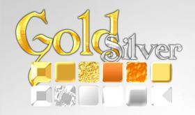 12款黄金白金等金属效果PS样式