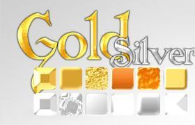 12款黄金白金等<font color=red>金属</font>效果PS样式