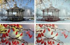 冬季冷色效果PS动作