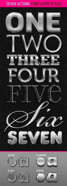 7种<font color=red>金属</font>字体效果PS样式