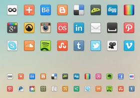 41枚社交媒体PNG图标