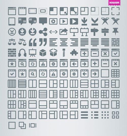 1262枚扁平化图标大全PNG格式