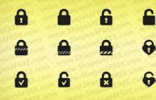 12款门锁的PS自定义形状
