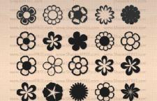 25款花朵矢PS自定义形状