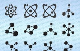 12款原子和分子Photoshop的形状