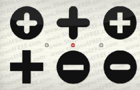 加减符号PS自定义形状