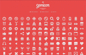 210枚Gemicon系列单色图标,矢量PSD分层