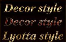哥特复古金属字体样式