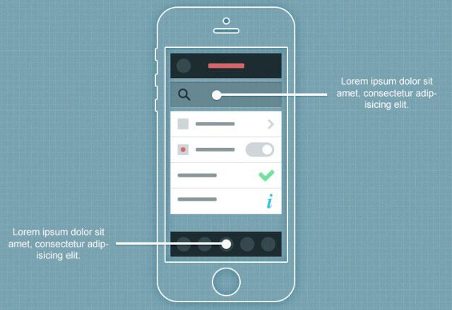 苹果线框示意图,PSD矢量分层