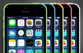 iphone 5C,PSD矢量分层