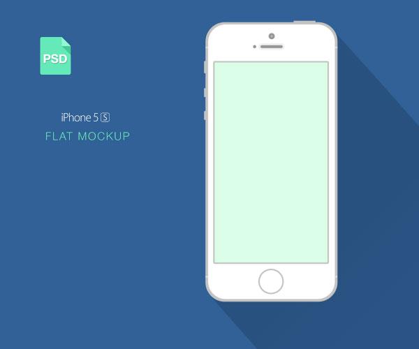 iphone 5s 扁平化风格,psd矢量分层
