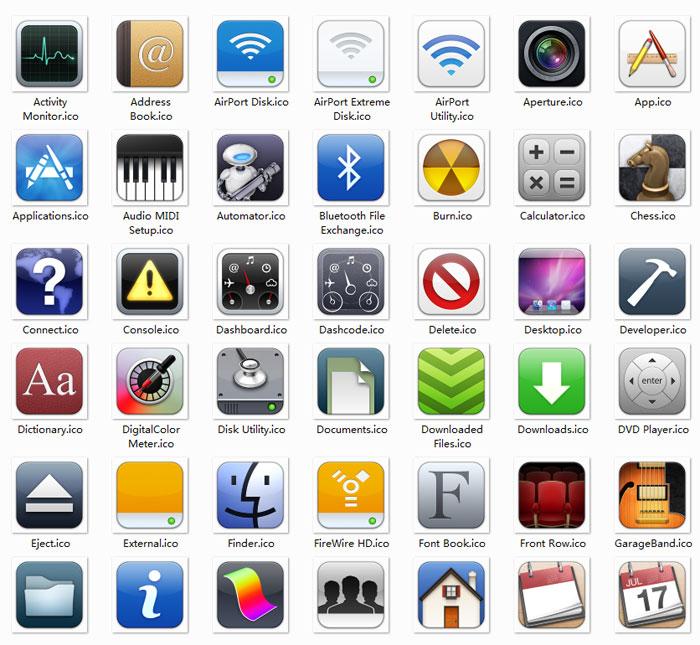 100枚IOS6系统默认图标,ICO格式