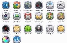 半透明手机桌面ICO图标