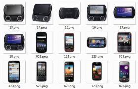 安卓手机 PSP游戏机图标,ICO PNG格式