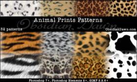 动物毛皮纹理,PS填充图案