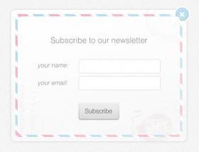 欧美信封风格UI登录框,矢量PSD
