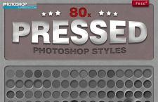 80款超酷的质感凹陷效果PS样式