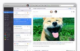 苹果Mac电脑邮箱界面PSD