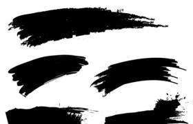 5款高清墨迹,PS笔刷