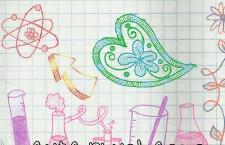 化学元素粉笔卡通图案,PS笔刷