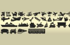 40枚交通工具,PS自定形状