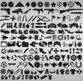 150枚各种自定义PS形状