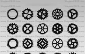 90枚Photoshop的齿轮形状