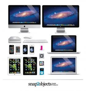 苹果终端设备模型素材,AI格式