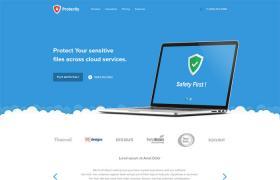 国外蓝色软件网站模版,PSD矢量素材