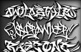75种涂鸦风格的英文字体