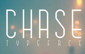 Chase 时尚感长扁形英文字体
