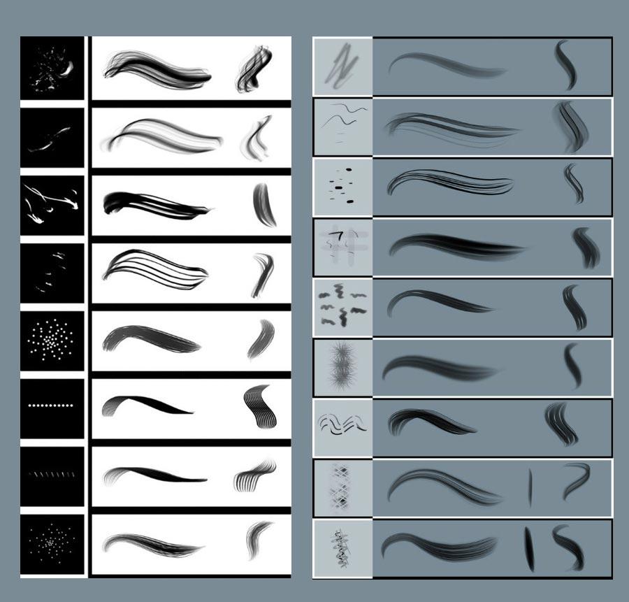 实用头发PS笔刷
