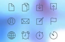 32枚线性IOS7风格图标,PSD源文件(2)