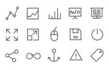 32枚线性IOS7风格图标,PSD源文件(4)