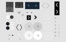 网站设计常用箭头PNG图标