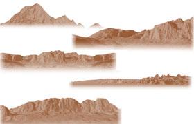山脉高清PS笔刷