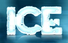 3D冰雪字体效果PS样式